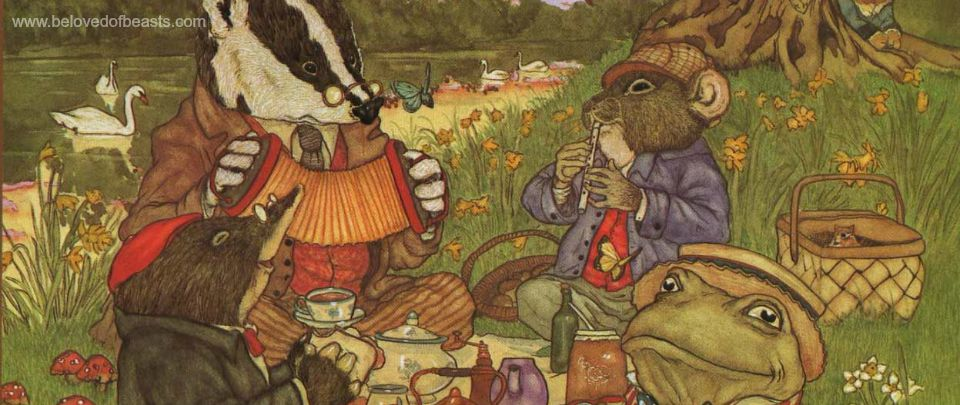 Mole, Rat, Badger, Toad and Gang by Wind and Willows