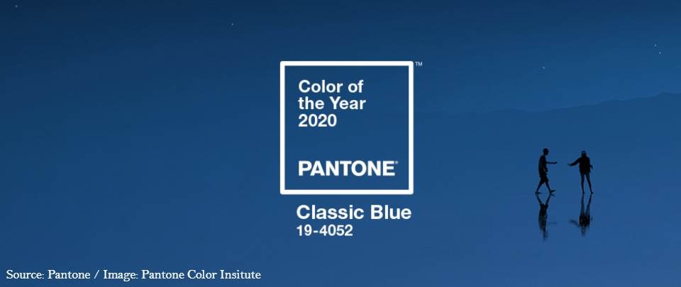 Classic Blue is 2020's Colour of the Year