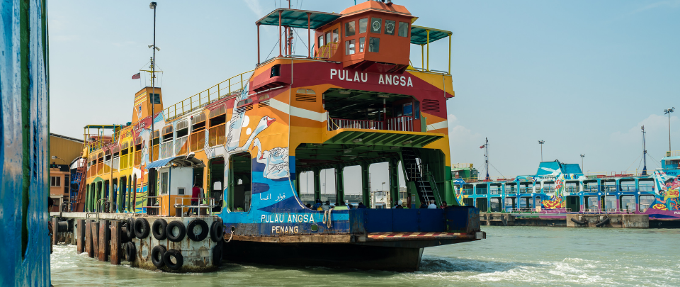 Motorcyclists Happy With New Penang Ferry