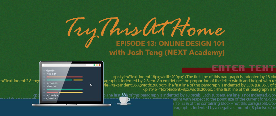 Try This At Home #13: Online Design 101