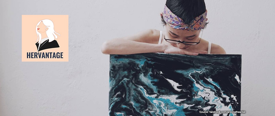 Pouring Her Heart into Art