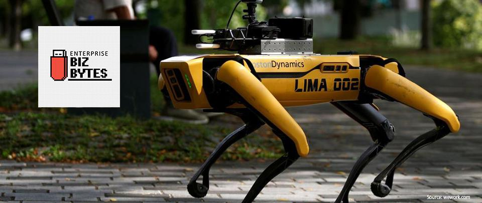 """Singapore's """"Robo-Dogs"""" Enforce Physical Distancing"""