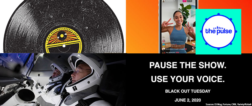 By The Way: Instagram Live Revenue, Rocking in Space, #blackouttuesday and Record Store Day